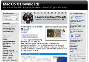 FlySketch as the featured download